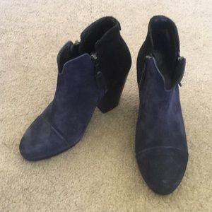 Rag & Bone Margot Black Blue Booties 6